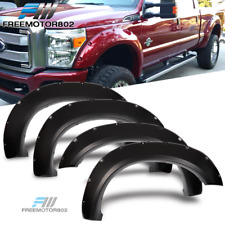 Fits 11-16 Ford F250 F350 Superduty Pocket Rivet Style Smooth PP Fender Flares