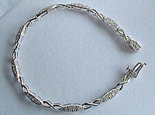 INFINTY Link BRACELET in 10K White Gold & 1.25TCW Rd Diam Safety Clasp NEW!