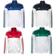 Adidas Hombre 3S Ess Warm Up Chaqueta Deportiva Sport de Deporte Blanco S-4XL