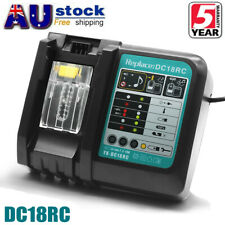 18V For Makita DC18RC 14.4V LXT BL1860 BL1850B Rapid Fast Li-Ion Battery Charger