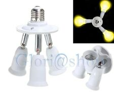SDOPPIATORE 3 INGRESSI E27 ADATTATORE LAMPADINA PORTALAMPADA E 27 X 3 LAMPADINE