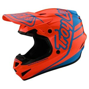 Troy Lee Designs 2020 GP Helmet Silhouette Orange/Cyan All Sizes