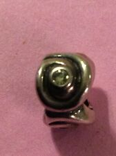 Genuine PANDORA 'Eye of the Storm' Charm/Bead Peridot CZ 790318CZP RARE RETIRED