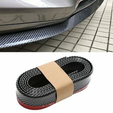 Universal PU Carbon Fiber Front Bumper Lip Splitter Chin Spoiler Body Trim (8ft)