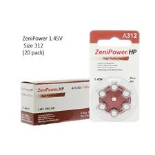 Zenipower Hearing Aid Batteries Size 312 1.45V, PR41 (120 Batteries Total)