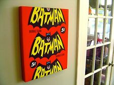 "Custom Canvas Print • '66 BATMAN ""Repeating Bat"" Vintage Wrapper • 16""x20"""