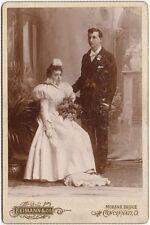 WEDDING PHOTO BY REIMANN + CO.,  CINCINNATI, OHIO, CABINET CARD