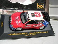 IXO models 1/43 RARE CITROEN XSARA WRC N°1 winner Monté Carlo 2005 Loeb/Elena !