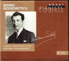 Benno MOISEIWITSCH: GREAT PIANISTS OF THE 20TH CENTURY 2CD Chopin Kabalevsky