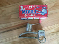 Vintage MOULI Rotary Grater 1940's Made in USA