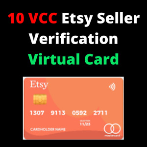 10 VCC Etsy Seller Verification Virtual Card Fast Delivery