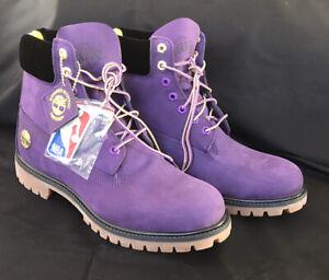 RARE Timberland NBA LA Lakers Los Angeles Boots US 10.5 Mens Waterproof *NEW*