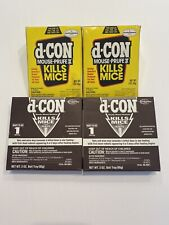 D-CON Ready Mix Rats Mice Poison 4 Unopened Unused Tray Discontinued Brodifacoum