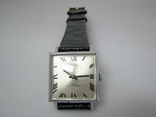 a259 Retro Swank Watch Vintage Mechanical Hand Wind with Leather Band