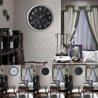 ❤Large Wall Clock Vintage Temperature Humidity Round Modern Retro Quartz Clocks