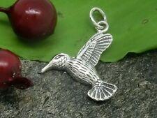 Vogel Anhänger 925 Sterling Silber Kolibri Kette Anhänger