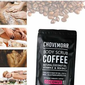 Pure Robusta Coffee Scrub   Perfect Gift   Coconut Oils, Vitamin E & Sea Salt