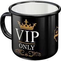 Emaille VIP Becher Kaffeetasse Souvenir Tasse,360 ml.,coffee mug