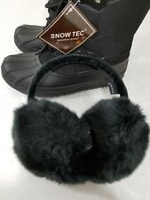 Snow Tech Womans snow boots size 8 with ear muffs black