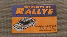 Certificat Voiture De Rallye De Collection « Lancia Intégrale HF 4WD »TBE.