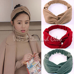 Fashion Korean Style Twisted Bow Knot Hoop Ribbon Satin Scarf Hair Wrap Headband