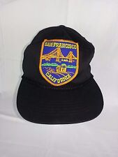 San Francisco California CA Golden Gate Black Vintage Snapback Cotton OSFA EUC