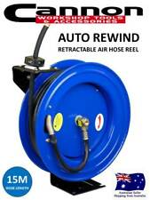 All Steel Industrial Grade Retractable Air Hose Reel with 15Mtr Rubber Air Line