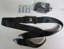 """GM Mark Of Excellence Chevy Black Lap Seat Belts (2) With Mounting Kit: 74"""""""