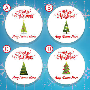 70 x PERSONALISED Christmas Stickers / Christmas Labels Gift Tags Stickers (001)