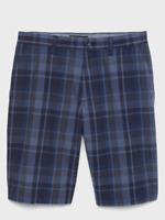 New Banana Republic Mens Blue Plaid Emerson Straight Fit Shorts Sizes 34 or 36