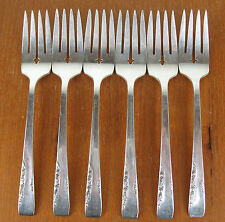 6 x Salad Forks Oneida 1881 Rogers Proposal 1954 vintage silverplate silver