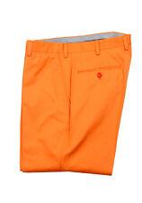 New Brioni Orange Cotton Trousers Size 56 / 40 U.S. Pants