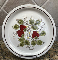 "Montgomery Ward Vintage Stoneware Strawberry Dinner Plate(s) 10 1/2"" Japan"