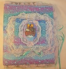 New listing Vintage Noah's Ark Homemade Fabric Quilted Baby Photo Album/Scrapbook