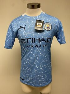 Puma 2020-21 Manchester City Authentic Home Jersey - Blue NWT $140