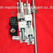 1 ballscrew RM1605-300 ball screws+BK/BF12+coupler+SBR16-300 SET for CNC