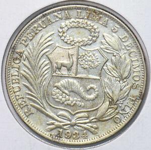 Peru 1934 1 Sol 293679 combine