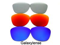 Galaxy Replacement Lenses For Oakley Frogskins Sunglasses Blue&Red&Grey