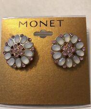 Monet  Pink & White  Earrings.