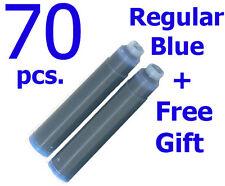 70 Fountain Pen Ink Cartridges Refills BLUE + GIFT