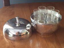 Rosh Hashanna Silver Plate Apple Crystal Wine Glass Set 6  Silver Apple Wine Set