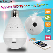 360°Panoramic IP Dome Camera Wireless Fisheye Bulb Lamp 960P Hidden Security CAM
