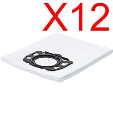 12X Vacuum Cleaner Fleece Filter Tear-Resistant Bag For Karcher WD4 WD5 WD6