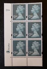 GB STAMPS :: MACHIN Y1747 :: £2 x 6 :: DE LA RUE CYL BLOCK :: PLATE D1dot
