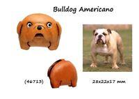 Llavero Piel Colgante Cuero Hombre Mujer Perro Bulldog Americano