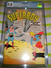SUPERBOY #80 CGC 7.5 VERY EARLY SUPERGIRL 1ST MEETING SUPERBOY KEY