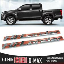 FOR ISUZU D-MAX DMAX HOLDEN RODEO X2 HI-LANDER CHROME LOGO EMBLEM DECAL PLATE
