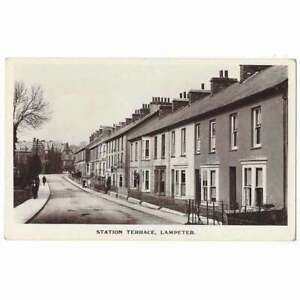 LAMPETER Station Terrace, Cardiganshire RP Postcard by A. James, Unused
