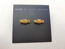 New Marc by Marc Jacobs Gold Stud Ribbon Bow Tie Screw Studded Earrings RRP $42