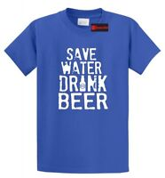 Save Water Drink Beer Funny T Shirt College Party Alcohol Graphic Tee Shirt